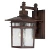 This item: Cove Neck Rustic Bronze One-Light 14-Inch High Outdoor Wall Lantern with Clear Seeded Glass