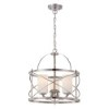 This item: Ginger Brushed Nickel Three-Light Drum Pendant with Etched Opal Glass