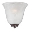 This item: Empire Old Bronze One-Light Wall Sconce with Alabaster Glass