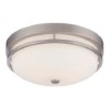 This item: Nevel Brushed Nickel Two-Light Flush Mount with Satin White Glass