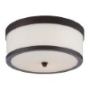 This item: Celine Venetian Bronze Two-Light Flush Mount with Etched Opal Glass