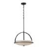 This item: Nevel Sudbury Bronze Three-Light Bowl Pendant with Satin White Glass