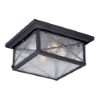 This item: Wingate Textured Black Two-Light Outdoor Flush Mount with Clear Seeded Glass