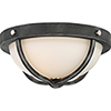This item: Sherwood Iron Black with Brushed Nickel Accents Two-Light Flush Mount