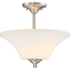 This item: Fawn Brushed Nickel Two-Light Semi-Flush Mount