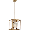 This item: Stanza Antique Gold One-Light Small Pendant