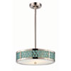 This item: Raindrop Polished Nickel Two-Light LED Small Pendant w/ White Glass and Removable Aquamarine Insert