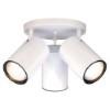 This item: White Three-Light R30 Straight Cylinder Semi-Flush with White Aluminum