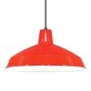 This item: Red One-Light Dome Pendant with Warehouse Shade