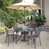This item: Largo Taupe 48.5-Inch 5-Piece Outdoor Dining Set with Umbrella
