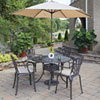 This item: Largo Taupe 48.5-Inch 5-Piece Outdoor Dining Set with Umbrella and Cushions
