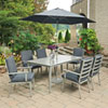This item: South Beach 9 Piece Rectangular Outdoor Dining Table- 6 Chairs with Umbrella and Base