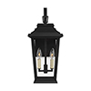 This item: Warren Textured Black Two-Light Outdoor Wall Lantern