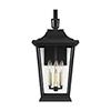 This item: Warren Textured Black Three-Light Outdoor Wall Lantern