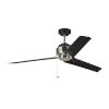 This item: Arcade Midnight Black Polished Nickel 54-Inch Ceiling Fan