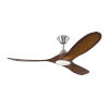 This item: Maverick Brushed Steel Koa 52-Inch LED Ceiling Fan