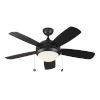 This item: Discus Matte Black 44-Inch LED Ceiling Fan