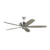 This item: Dover Brushed Steel 60-Inch Ceiling Fan