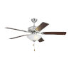 This item: Haven II Chrome 52-Inch LED Ceiling Fan