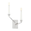 This item: Hopton Polished Nickel Two-Light Title 24 Left Double Bath Sconce