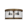 This item: Angelo Distressed Weathered Oak and Slate Gray Metal 14-Inch Two-Light Flush Mount
