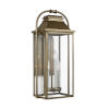 This item: Wellsworth Painted Distressed Brass 11-Inch Three-Light Outdoor Wall Lantern
