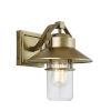 This item: Boynton Painted Distressed Brass Nine-Inch One-Light Outdoor Wall Lantern