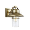 This item: Boynton Painted Distressed Brass 11-Inch One-Light Outdoor Wall Lantern