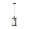 This item: Angelo Distressed Weathered Oak and Slate Gray Metal 10-Inch One-Light Mini Pendant