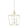 This item: Southold Burnished Brass 18-Inch Four-Light Chandelier