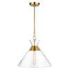 This item: Atlantic Burnished Brass 18-Inch One-Light Pendant