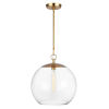 This item: Atlantic Burnished Brass 16-Inch One-Light Pendant