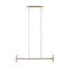 This item: Nodes Burnished Brass Two-Light Mini Chandelier