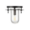 This item: Nuance Aged Iron 8-Inch One-Light Flush Mount