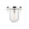 This item: Nuance Polished Nickel 12-Inch One-Light Flush Mount