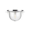 This item: Nuance Polished Nickel 18-Inch One-Light Flush Mount