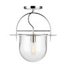 This item: Nuance Polished Nickel 15-Inch One-Light Semi Flush Mount