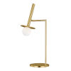 This item: Nodes Burnished Brass LED Table Lamp