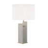 This item: Portman Natural Concrete And Burnished Brass 17-Inch Two-Light LED Table Lamp