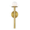 This item: Nodes Burnished Brass 5-Inch One-Light Wall Sconce
