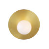 This item: Nodes Burnished Brass 8-Inch One-Light Wall Sconce