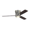 This item: Aerotour Semi-Flush Polished Nickel with Dark Mahogany Blades 56-Inch LED Hugger Ceiling Fan