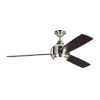 This item: Aerotour Polished Nickel with Dark Mahogany Blades 56-Inch LED Ceiling Fan