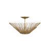 This item: Helios Antique Gold 17-Inch Three-Light Semi Flushmount