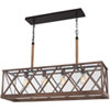This item: Lumiere Dark Weathered Oak and Oil Rubbed Bronze Four-Light Chandelier
