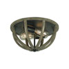 This item: Allier Weather Oak Wood and Antique Forged Iron Two-Light Flush Mount