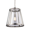 This item: Harrow Polished Nickel One-Light Pendant with Clear Seedy Glass Panel