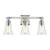 This item: Monterro Satin Nickel Three-Light Vanity