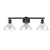 This item: Carver Black 27-Inch Three-Light Bath Vanity with Clear Glass