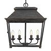This item: Abingdon Antique Black Iron Four-Light Pendant